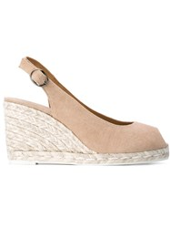 Castaner Castaner 'Beli' Wedge Espadrilles Nude And Neutrals