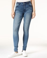 Rampage Juniors' Braided High Rise Skinny Jeans East Wash