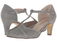 Rose Petals Canopy Pewter Sparkle Fabric Women's Shoes