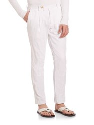 Kors Cotton Inox Pleated Pants White