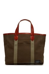 Rag And Bone Derby Leather Trim Tote Green
