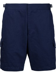 Orlebar Brown Mid Length Side Pocket Shorts Blue