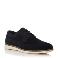 Linea Blakes Wedge Sole Brogue Shoes Navy