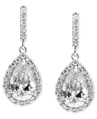 B. Brilliant Sterling Silver Earrings Cubic Zirconia Pave Teardrop Earrings 2 9 10 Ct. T.W.