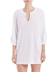 J Valdi Plus Sculpted Terry Roll Sleeve Tunic
