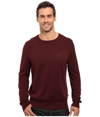 Nautica Solid Crew Neck Sweater Shipwreck Burgundy Men's Sweater
