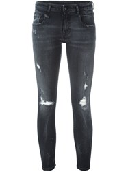 R 13 R13 Distressed Skinny Jeans Black
