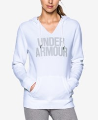 Under Armour Favorite Fleece Logo Pullover Hoodie White Elemental