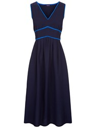 Hotsquash Retro Crepe Sundress In Coolfresh Fabric Navy