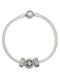 Pandora Design Bracelet Elegance Sterling Silver And Cubic Zirconia Moments Collection