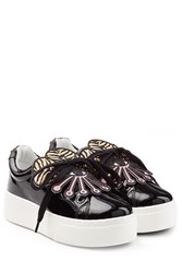 Kenzo Patent Leather Platform Sneakers Black