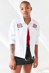 Obey Spider Rose Coach Jacket White