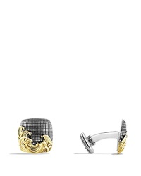 David Yurman Waves Cuff Links With Gold Silver Gold