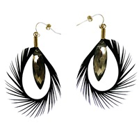 Ayaka Nishi Feather Earrings Black