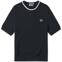Fred Perry Reissues Pique Crew Tee Blue