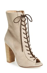 Kristin Cavallari Women's 'Lawless' Lace Up Bootie Grey Suede