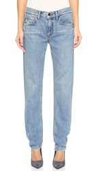 Helmut Lang Relaxed Tapered Bleach Jeans Light Blue