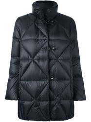Fay Quilted Padded Coat Black
