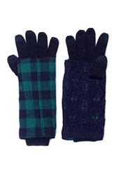 Muk Luks Solid Festival 3 In 1 Gloves Black