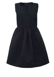 Hallhuber Cocktail Dress With Decorative Button Black