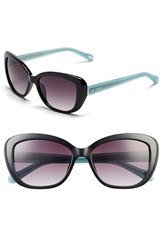 Women's Fossil 55Mm Retro Sunglasses Black