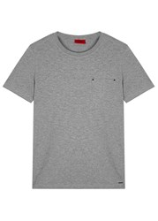 Hugo Dergamo Grey Stretch Cotton T Shirt