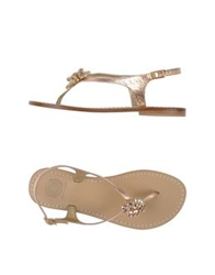 Lisa C Bijoux Thong Sandals Skin Color