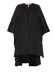 Valentino Step Hem Wool And Cashmere Blend Cape