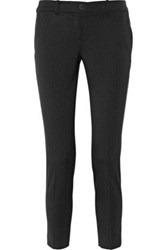 Michael Kors Collection Samantha Stretch Wool Flannel Skinny Pants Black