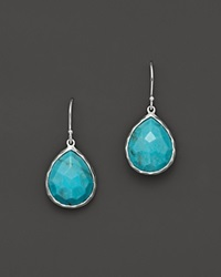 Ippolita Small Turquoise Teardrop Earrings No Color