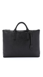 Ben Minkoff Embossed Leather Devin Briefcase Black