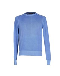 Andrea Morando Knitwear Jumpers Men Pastel Blue