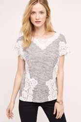 Postmark Marlina Lace Top Black And White