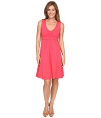 Mod O Doc Cotton Modal Spandex Braided Trim Tank Dress Dragonfruit Women's Dress Pink
