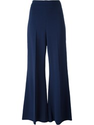 Sportmax Flared Trousers Blue