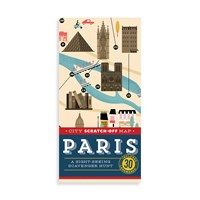 Chronicle Books City Scratch Off Map Paris