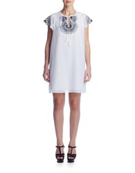 Susana Monaco Tess Embroidered Voile Dress Sugar