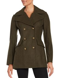 Bcbgeneration Wool Blend Peacoat Army Green