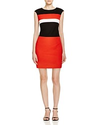 Finity Color Block Dress Black White And Red