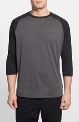 Under Armour 'Ua Tech' Heatgear Baseball T Shirt Black Carbon Heather