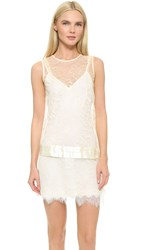 Loyd Ford Lace Tux Detail Dress Ivory
