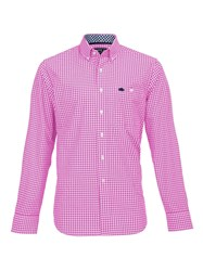 Raging Bull Gingham Check Shirt Pink