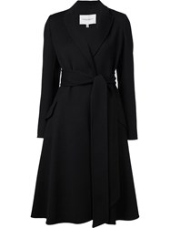 Carolina Herrera Belted A Line Coat Black