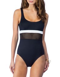Lauren Ralph Lauren Scoopneck One Piece Black