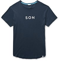 Orlebar Brown Son Slim Fit Printed Cotton Jersey T Shirt Blue