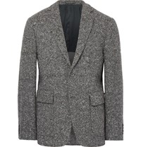 Wooster Lardini Grey Slim Fit Wool Blend Tweed Blazer Gray