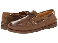 Sperry Gold A O 2 Eye Dark Tan Men's Slip On Shoes Brown