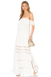 Greylin Emma Off Shoulder Maxi Dress White