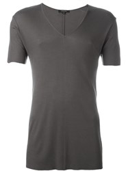 Unconditional Ribbed V Neck T Shirt Green