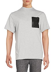 Sovereign Code Ario Zip Pocket Tee Heather Grey